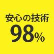 安心の技術98%
